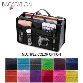 Harga BAGSTATIONZ Premium Lightweight And Water-ResistantMulti-Compartment Bag-In-Bag Organizer (Black)