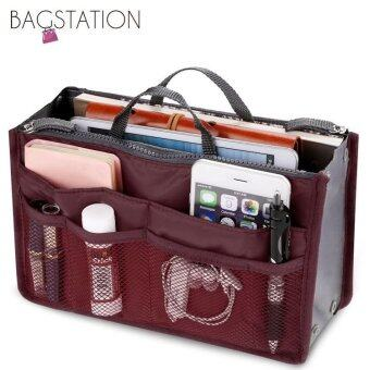 Harga BAGSTATIONZ Premium Lightweight And Water-ResistantMulti-Compartment Bag-In-Bag Organizer (Maroon)