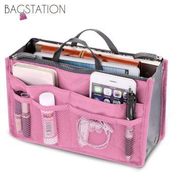 Harga BAGSTATIONZ Premium Lightweight And Water-ResistantMulti-Compartment Bag-In-Bag Organizer (Pink)