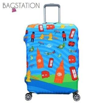Harga BAGSTATIONZ PREMIUM VERSION Stretchable Travel Luggage ProtectiveCover (London Element)