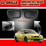 BMW E46 98-01 Front Sport Kidney Grilles Matt Black (4 DOOR)