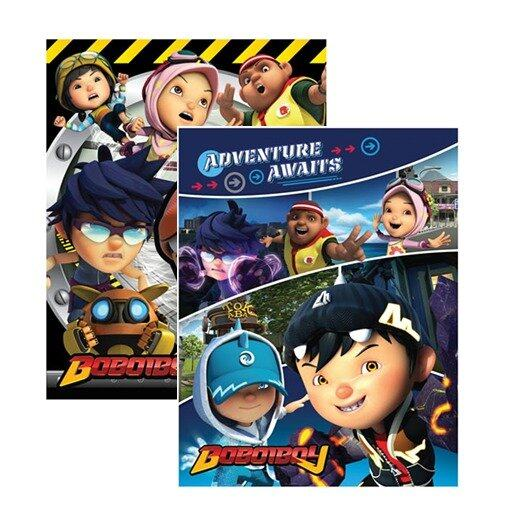 BoBoiBoy Exercise Book Set - Yellow And Blue Colour