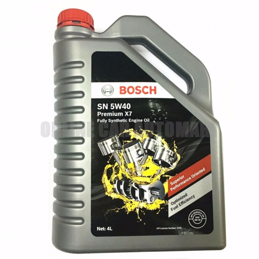 BOSCH SN 5W40 PREMIUM X7 FULLY SYNTHETIC ENGINE OIL 4 LITER
