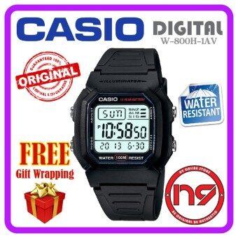 Casio W-800H-1AV Digital Men Watches Standard Rubber Strap Sports Watch Jam  Tangan 1563c53e94