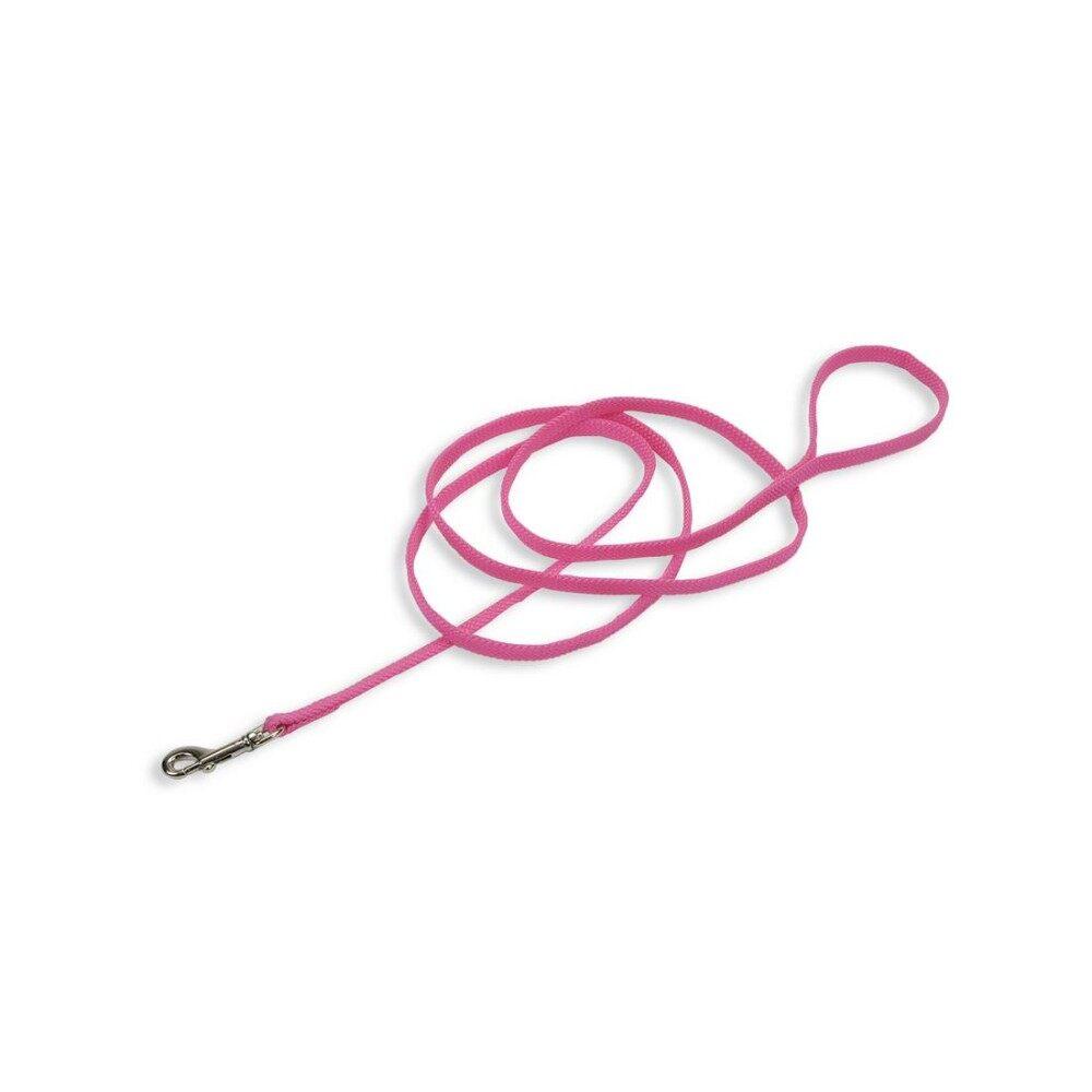 [Coastal] Braided Sunburst Nylon Leash - 6 FEET - Neon Pink