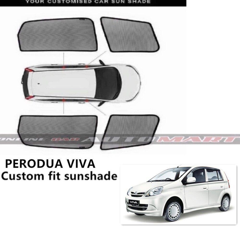 Custom Fit OEM Sunshades/ Sun shades for Perodua Viva - 4pcs