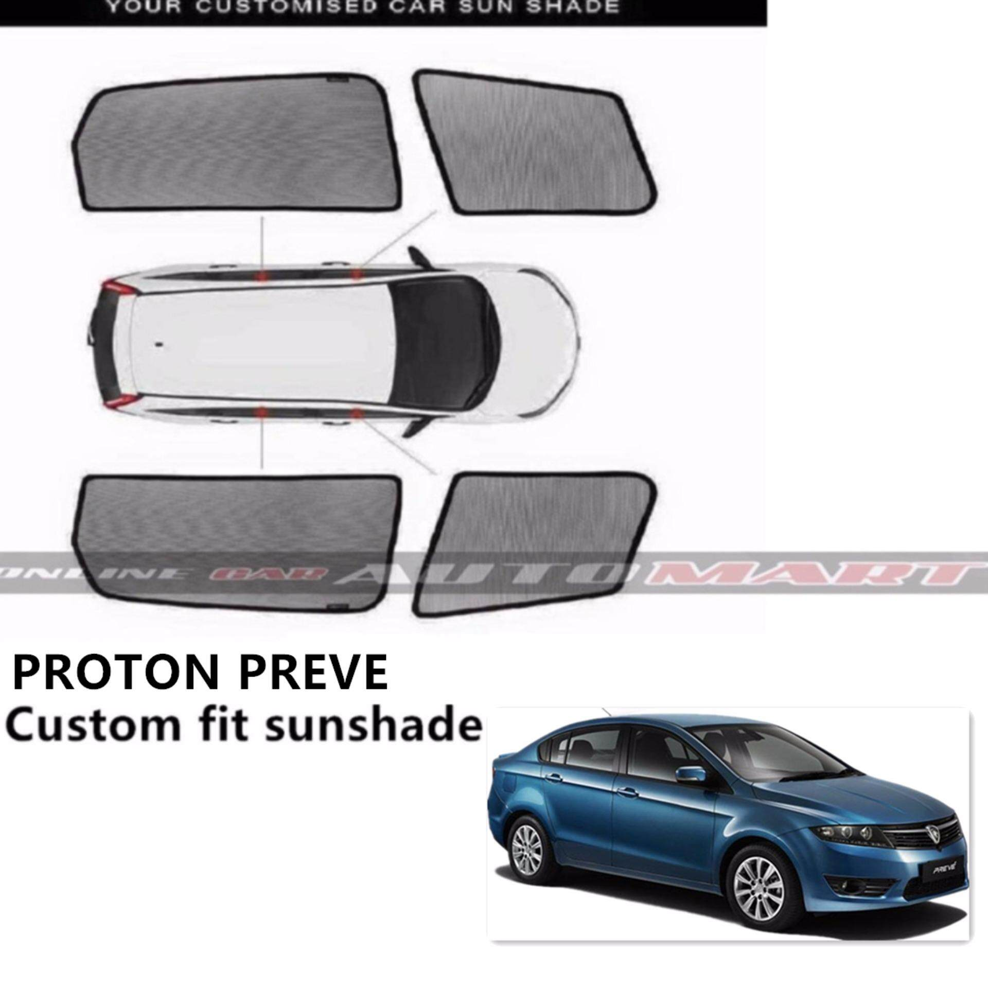 Custom Fit OEM Sunshades/ Sun shades for Proton Preve - 4pcs