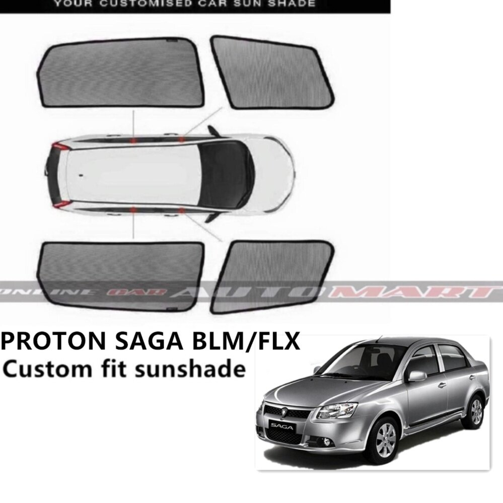 Custom Fit OEM Sunshades/ Sun Shades for SAGA BLM/FLX - 4 Pcs