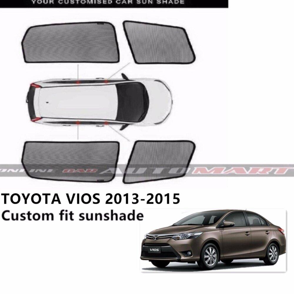 Custom Fit OEM Sunshades/ Sun shades for Toyota Vios (Year 2013-2015) - 4pcs