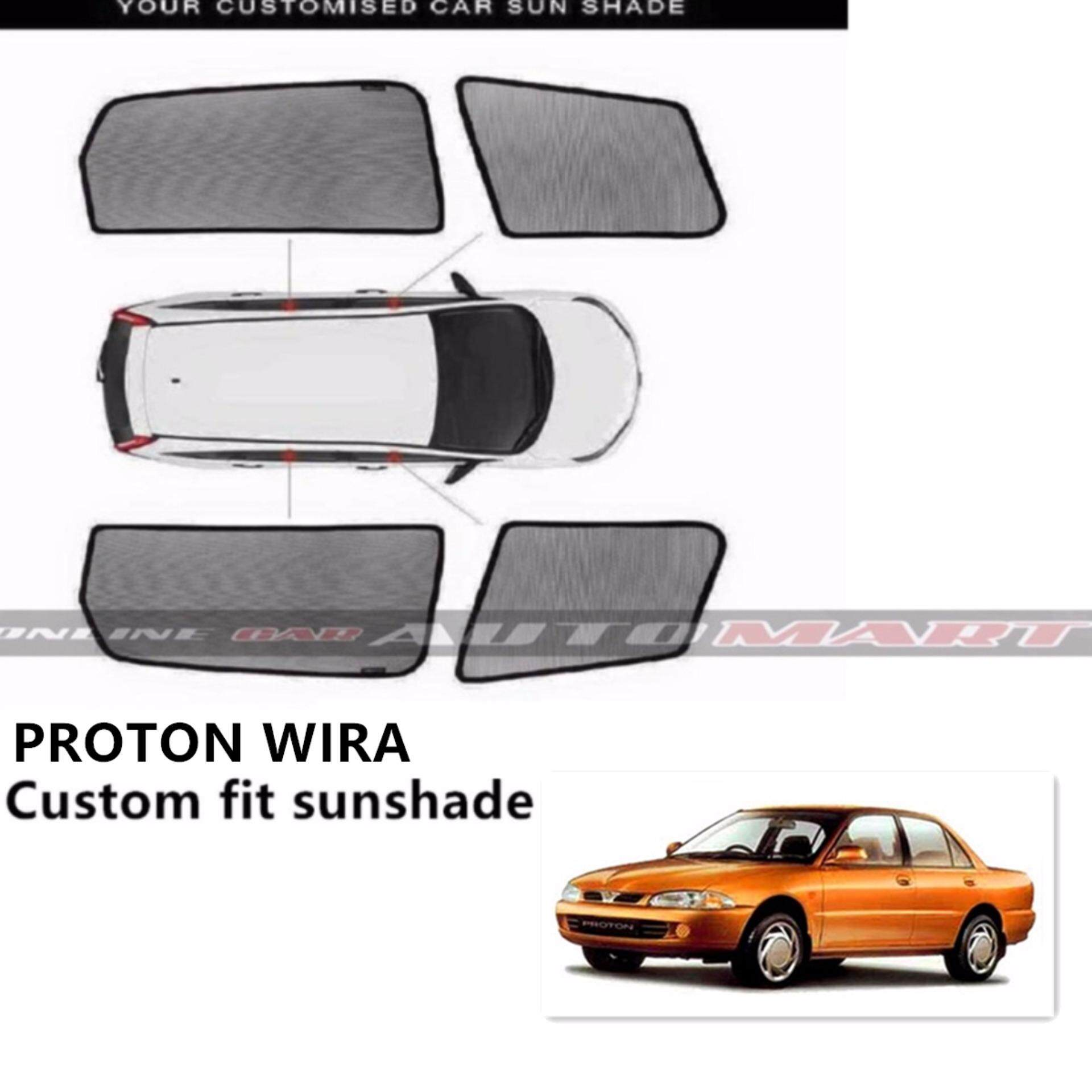 Custom Fit Sunshades/ Sun shades for Proton Wira - 4 Pcs