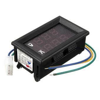 DC 4.5-30V 100A Dual Red+Blue LED Digital Voltmeter Ammeter Volt Amp Meter