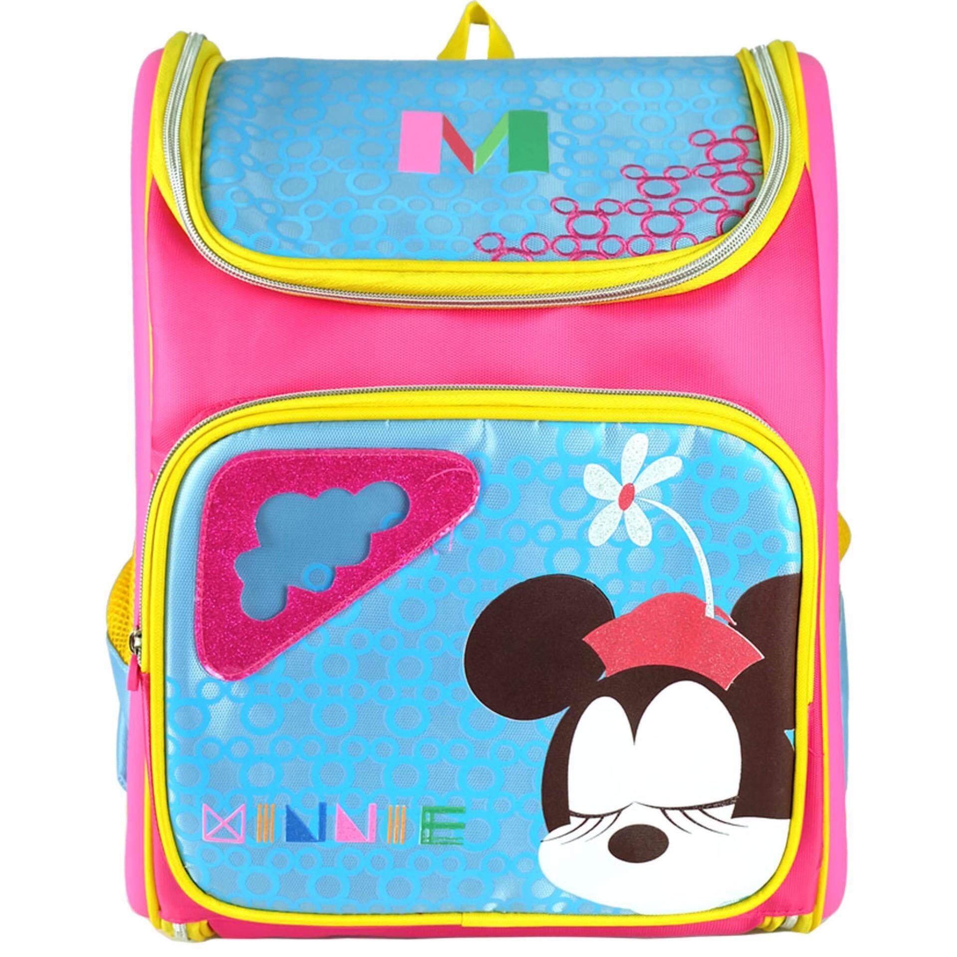 Disney Minnie 16 Inch DRE1628 Ergonomic Bag- (Pink/Blue)