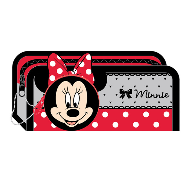 Disney Minnie Square Pencil Bag - Red Colour