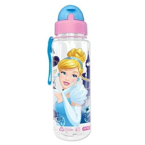 Disney Princess Cinderella 650ML Tritan Bottle With Straw - Pink Colour