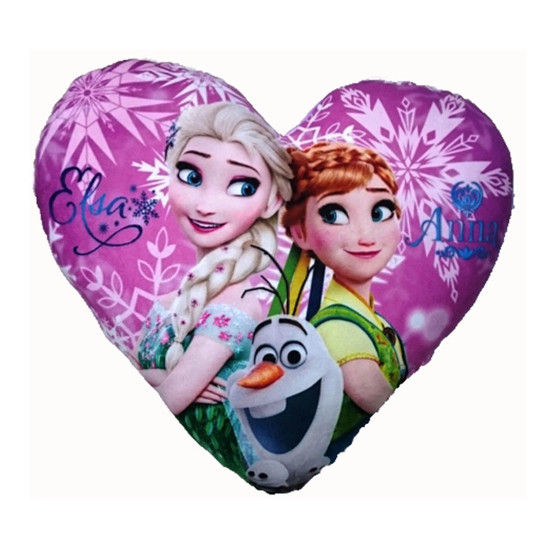 Disney Princess Frozen Fever Heart Cushion - Purple Colour
