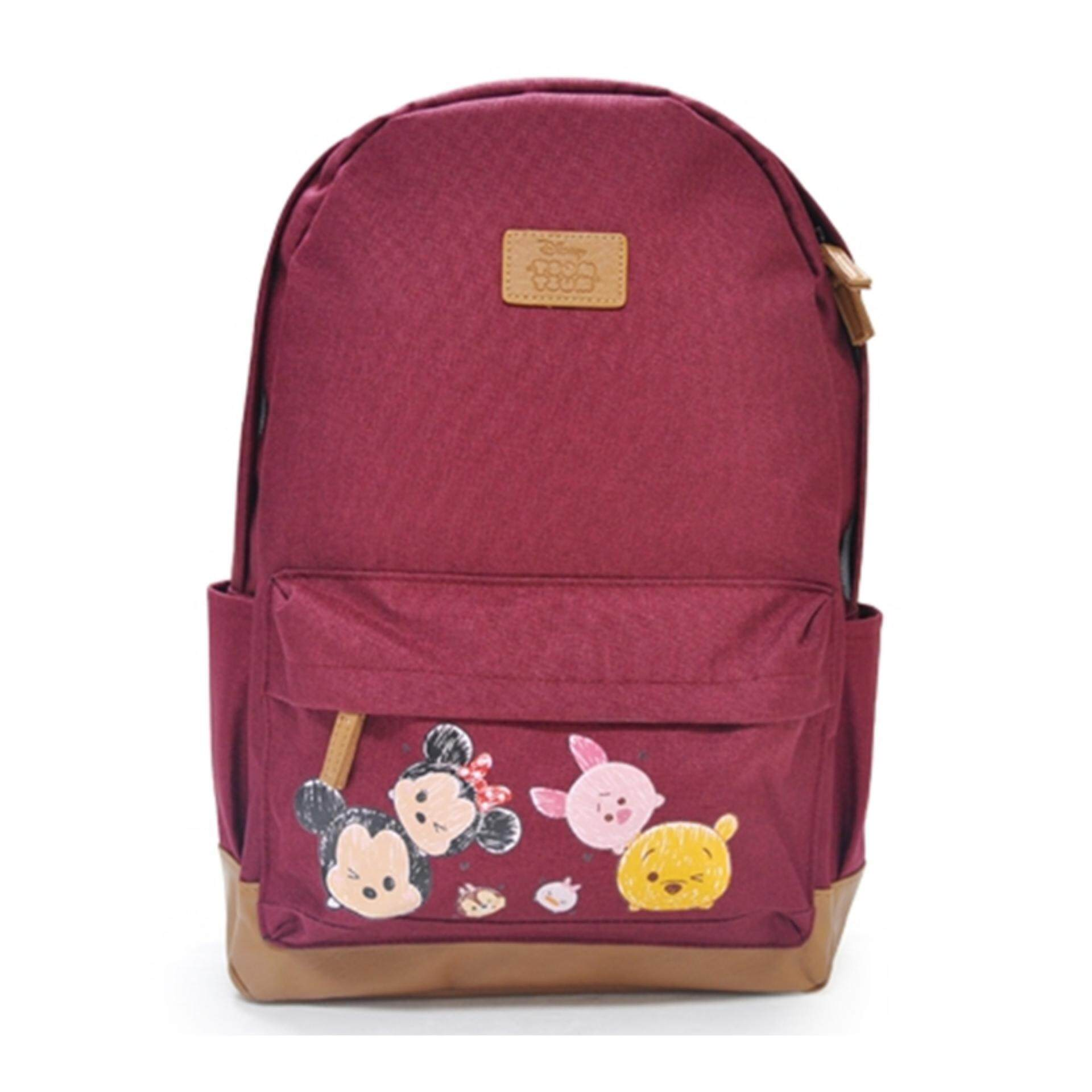 """Disney Tsum Tsum Backpack 16"""" Inches - Mickey Red Colour"""