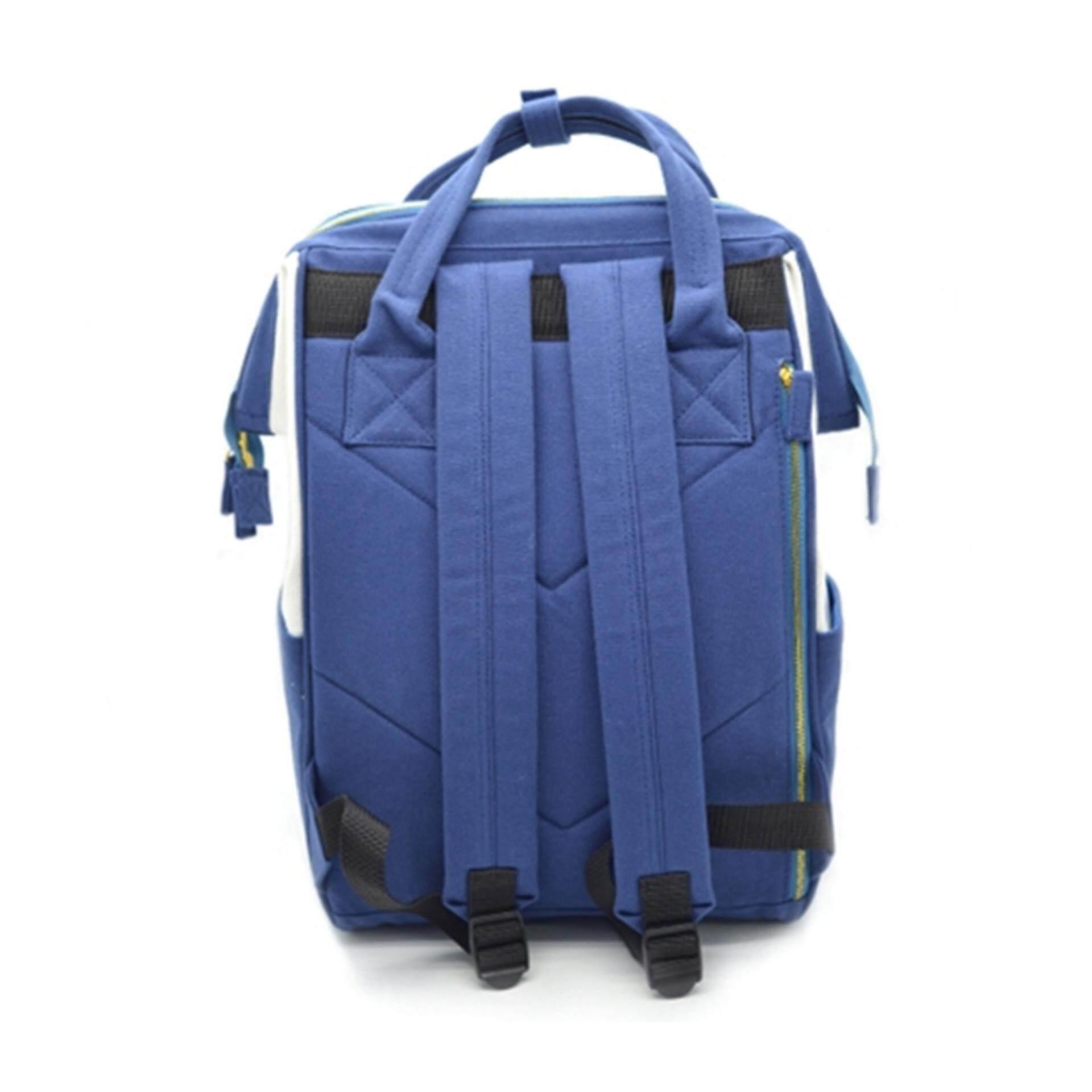 "Disney Tsum Tsum Canvas Backpack 15.5"" Inches - Blue Colour"
