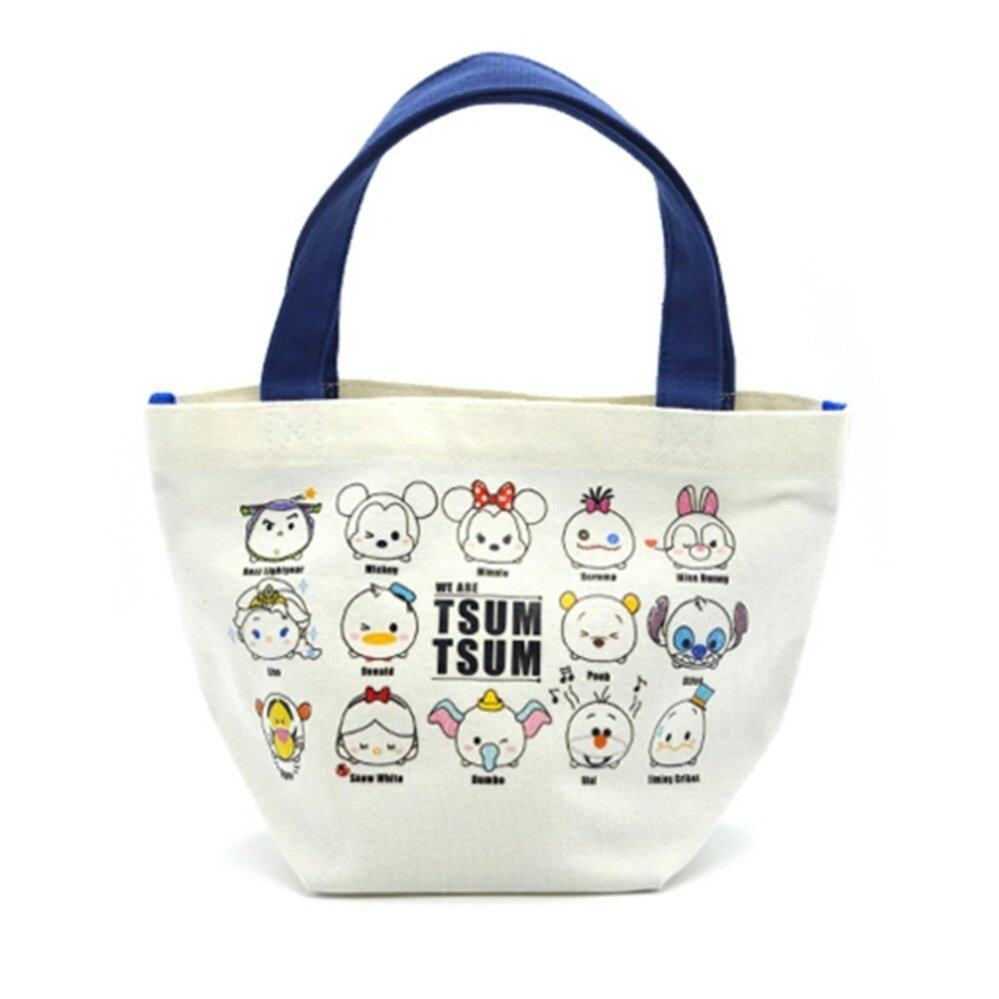 Disney Tsum Tsum Canvas Mini Tote Bag - Blue Colour