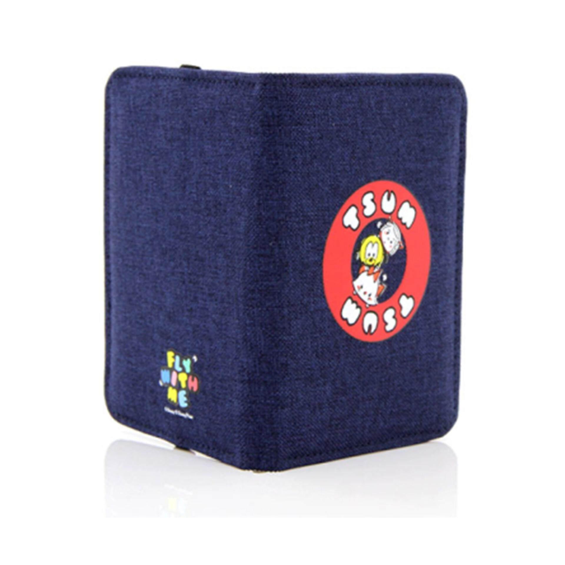 Disney Tsum Tsum Nautical Passport Holder - Dark Blue Colour