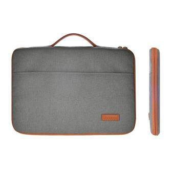 "Harga dodocool 13-13.3 Inch Laptop Nylon Zipper Sleeve Ultrabook Carrying Case Notebook Protective Bag Cover with PU Leather Handle for Apple 13"" MacBook Pro/ 13"" MacBook Air/ 12.9"" iPad Pro and More Dark Gray"