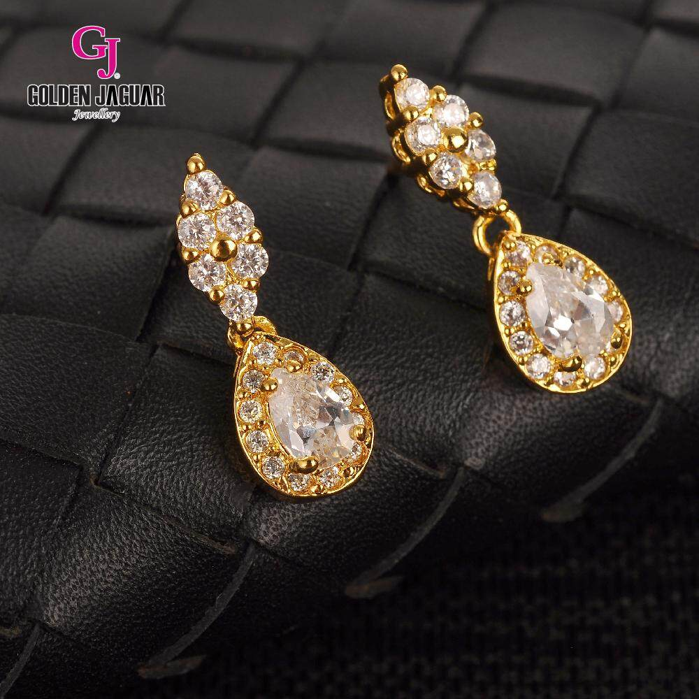 GJ Jewellery Emas Korea Earring - Water Drop Zirkon (6761306)