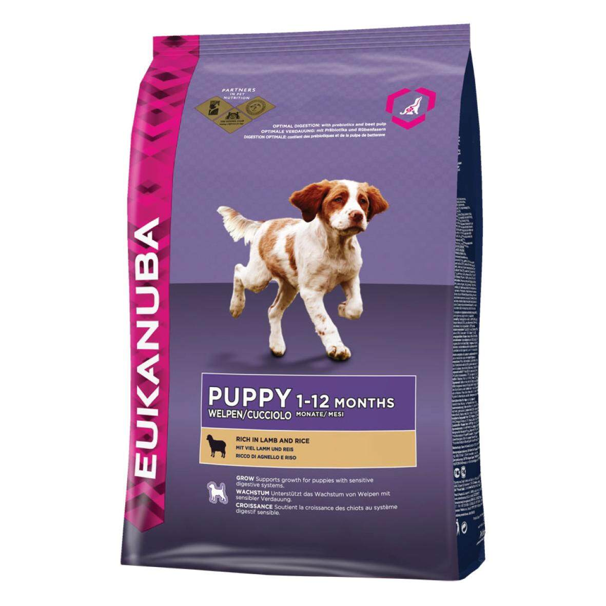 [EUKANUBA] LIFESTAGE FORMULAS Natural Lamb & Rice Puppy Food - 12KG