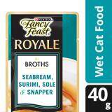 Fancy Feast Broths with Seabream Surimi Sole & Snapper Wet Cat Food Pouch (1 x 40g)