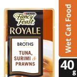 Fancy Feast Broths with Tuna Surimi & Prawns Wet Cat Food Pouch (1 x 40g)