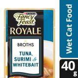 Fancy Feast Broths with Tuna Surimi & Whitebait Wet Cat Food Pouch (1 x 40g) - Pet Food/ Wet Food/ Cat Food/ Makanan Kucing