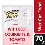 Fancy Feast Inspirations Beef, Courgette & Tomato Wet Cat Food Pouch (1 x 70g) - Pet Food/ Wet Food/ Cat Food/ Makanan Kucing