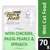 Fancy Feast Inspirations Chicken Pasta Pearls & Spinach Wet Cat Food Pouch (1 x 70g)