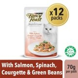 Fancy Feast Inspirations Salmon Spinach Courgette & Green Beans Wet Cat Food Box (12 x 70g)