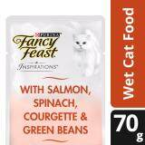 Fancy Feast Inspirations Salmon Spinach Courgette & Green Beans Wet Cat Food Pouch (1 x 70g)