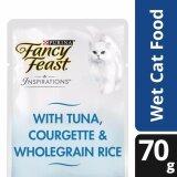 Fancy Feast Inspirations Tuna, Courgette & Wholegrain Rice Wet Cat Food Pouch (1 x 70g) - Pet Food/ Wet Food/ Cat Food/ Makanan Kucing