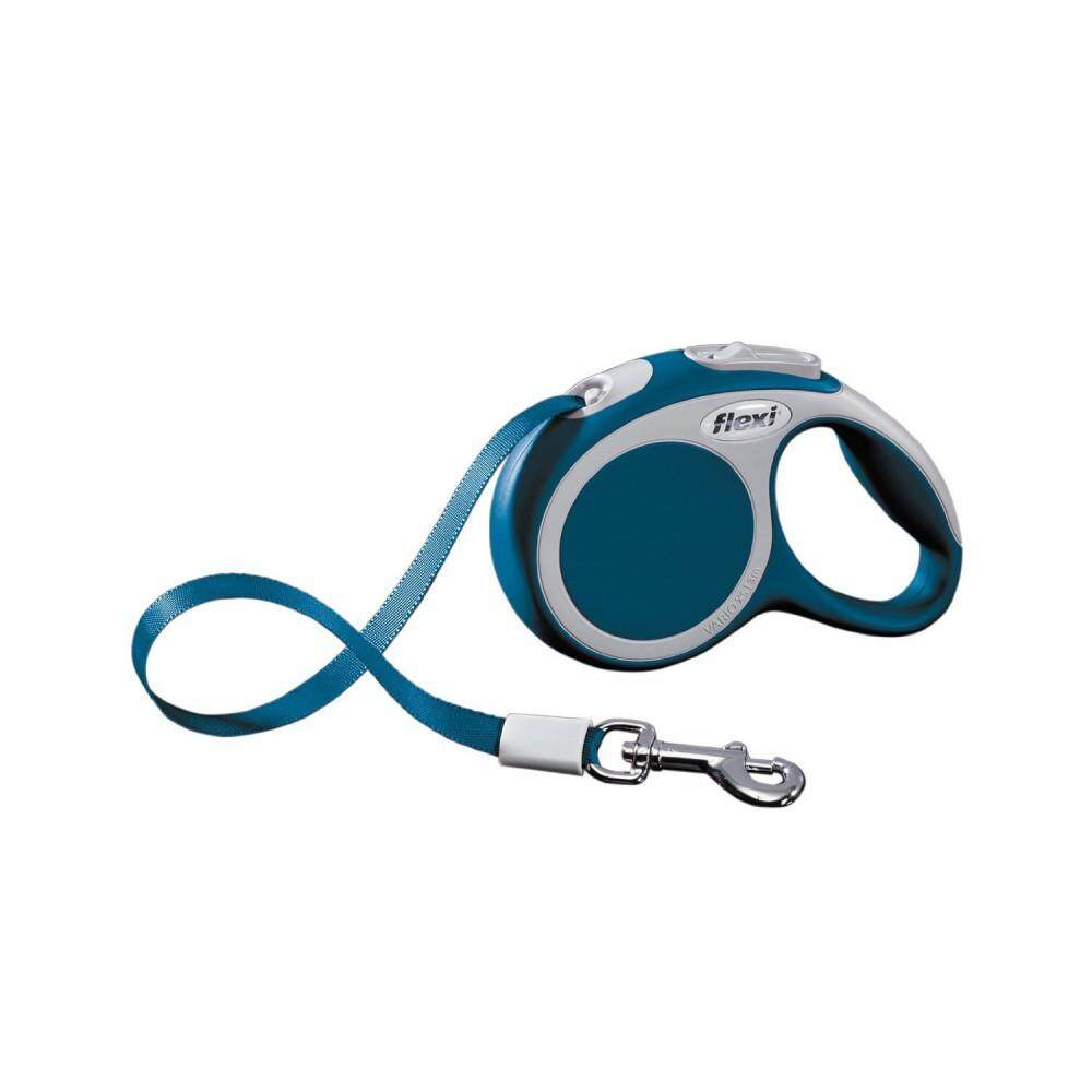 [Flexi] Flexi Vario 3meter Retractable Tape Leash For Extra Small Pet Size (up to 12kg) - Blue