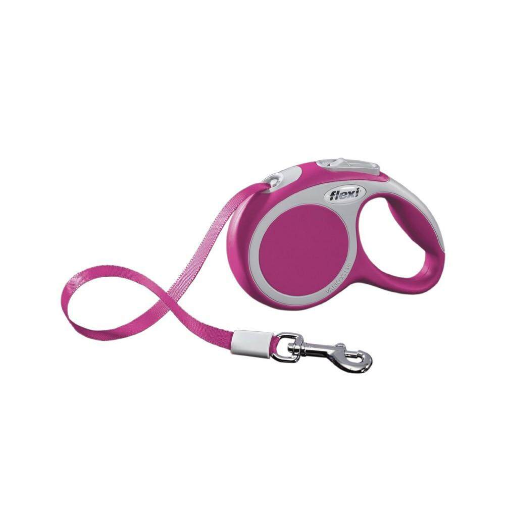 [Flexi] Flexi Vario 3meter Retractable Tape Leash For Extra Small Pet Size (up to 12kg) - Pink