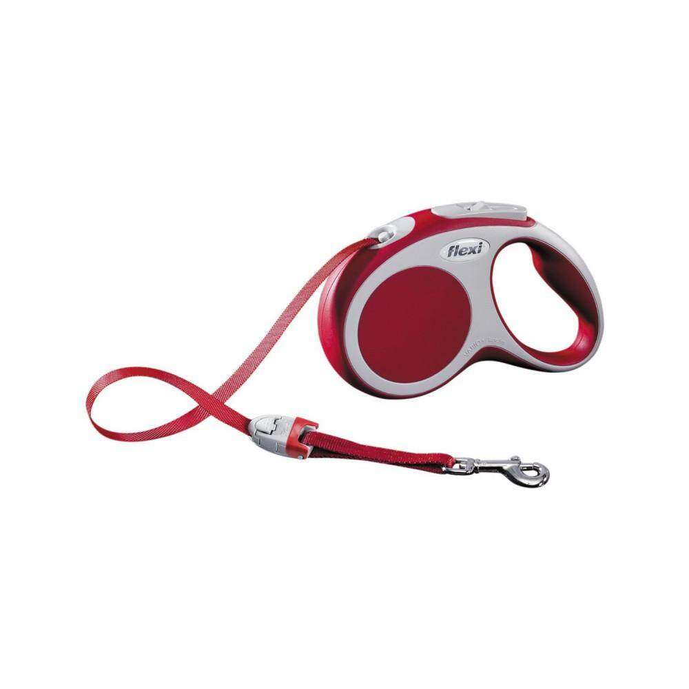 [Flexi] Flexi Vario 5meter Retractable Tape Leash For Small Pet Size (up to 15kg) - Red