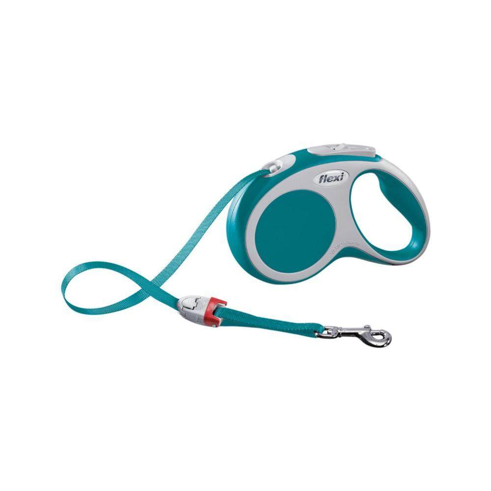 [Flexi] Flexi Vario 5meter Retractable Tape Leash For Small Pet Size (up to 15kg) - Turquoise