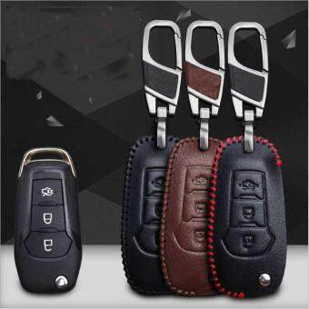 Ford Car Mondeo Furies Edge Blis Shand Stitched Leather Key Case Key Holder Key Ring