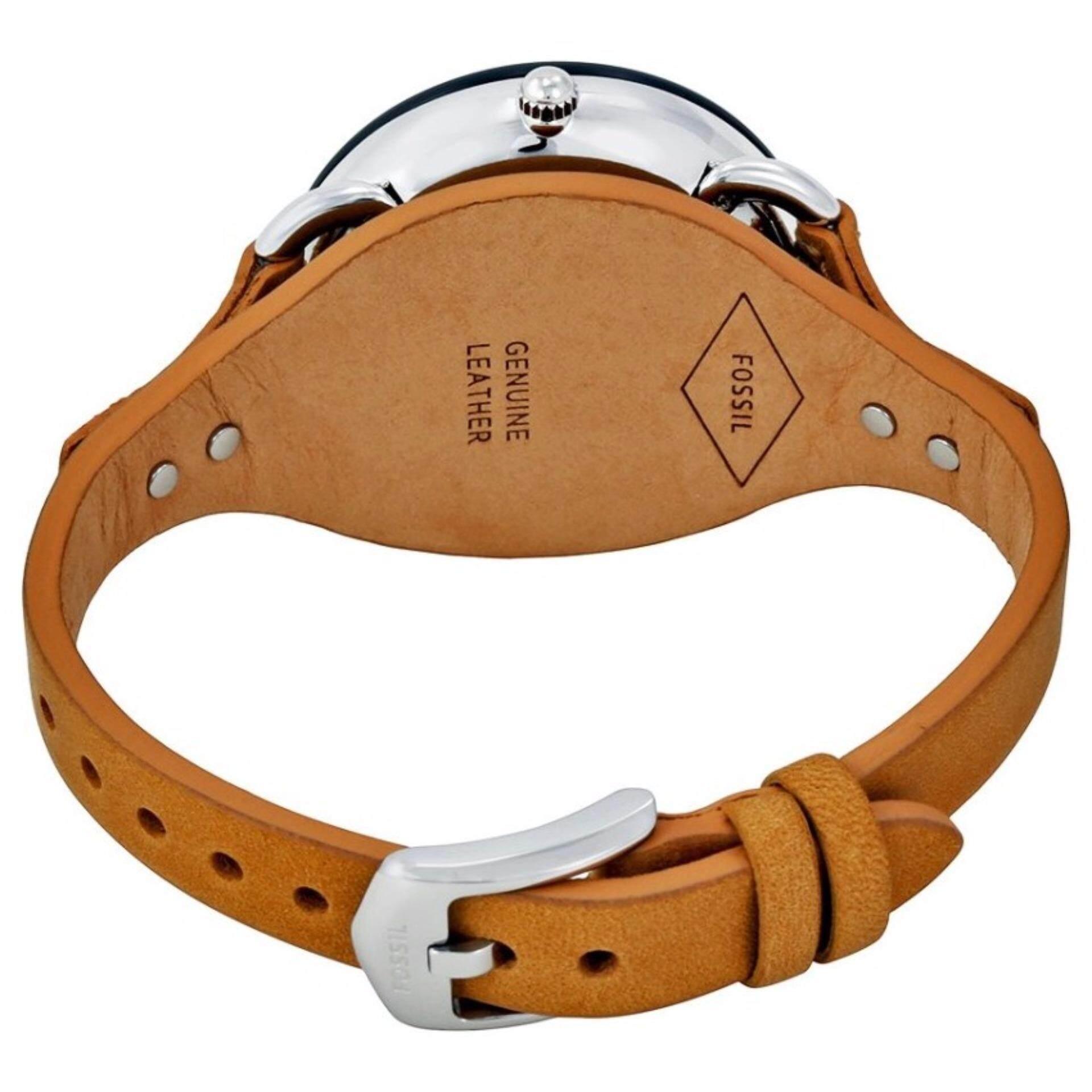 Cek Harga Fossil Es4175 Tailor Multifunction Tan Leather Watch Me3138 Grant Sport Automatic Skeleton Dial Black 3