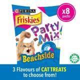 FRISKIES Party Mix Beachside Crunch: Tuna, Salmon & Snapper Flavours Dry Cat Treats pack (8 x 60g) - Pet Food/ Dry Food/ Cat Food/ Makanan Kucing
