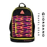 "Giordano 19"" LIMITED EDITION  Backpack with Shoe Compartment-Black/Yellow"