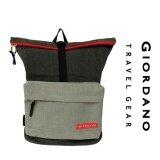 Giordano GB1634 - 20 Inch Canvas Backpack (Black/Grey)