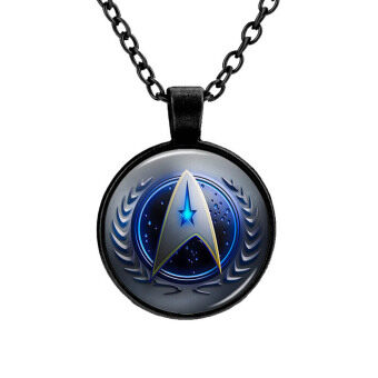Hequ New Hot Fashion Time Gemstone Pendant Necklace Star Trek American Movies Around The Accessories Necklace black