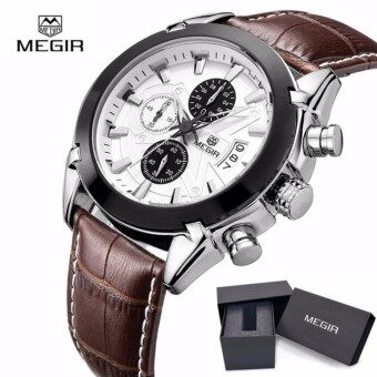Hot Megir Fashion Brands Sports Watches Men Quartz Watches Men Chronograph Waterproof 30M Men's Business Watches Luxury Watches Relogio