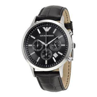 Harga Emporio Armani Men's Chronograph Black Dial Watch AR2447