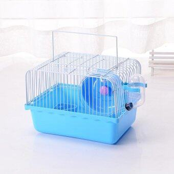 Harga 2017 Direct Selling Iron Juguetes Hamster House New Free Transportation Hamster Cage Super Cages Habitat For Bohr Samll pastoral#L23xW17xH17CM