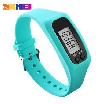 Harga SKMEI 1207 Women Sports Watches Pedometer Calorie Sport Mileage Digital Watch Girl Colorful Silicone Strap Wristwatches