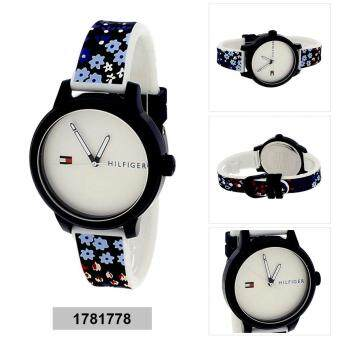 Harga Tommy Hilfiger Watch Ashley Multicolored Plastic Case Rubber Strap Ladies NWT + Warranty 1781778