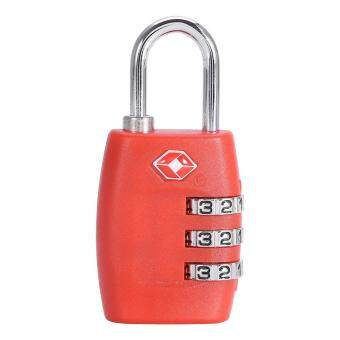 Harga Fashion Resettable Digit Combination Password Travel Luggage case Lock(Red)